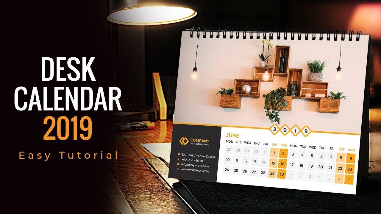 2019 Calendar Design Calendar 2019 Desk Calendar Wall Calendar