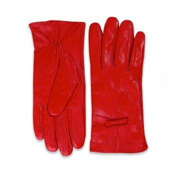 Hyacinth Red Leather Gloves | Vintage Style Accessories