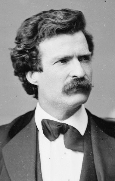Mark Twain/ was born under Haley's Comet and died under Haley's Comet http://artofmanliness.com/2009/11/01/the-manliest-mustaches-of-all-time/