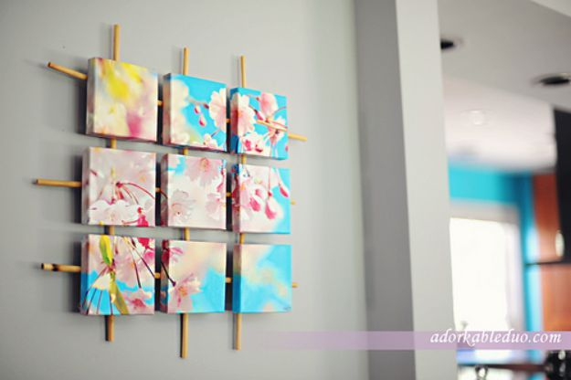 76 brilliant diy wall art ideas for your blank walls hanging diy wall art ideas and do it yourself wall decor for living room bedroom solutioingenieria Image collections