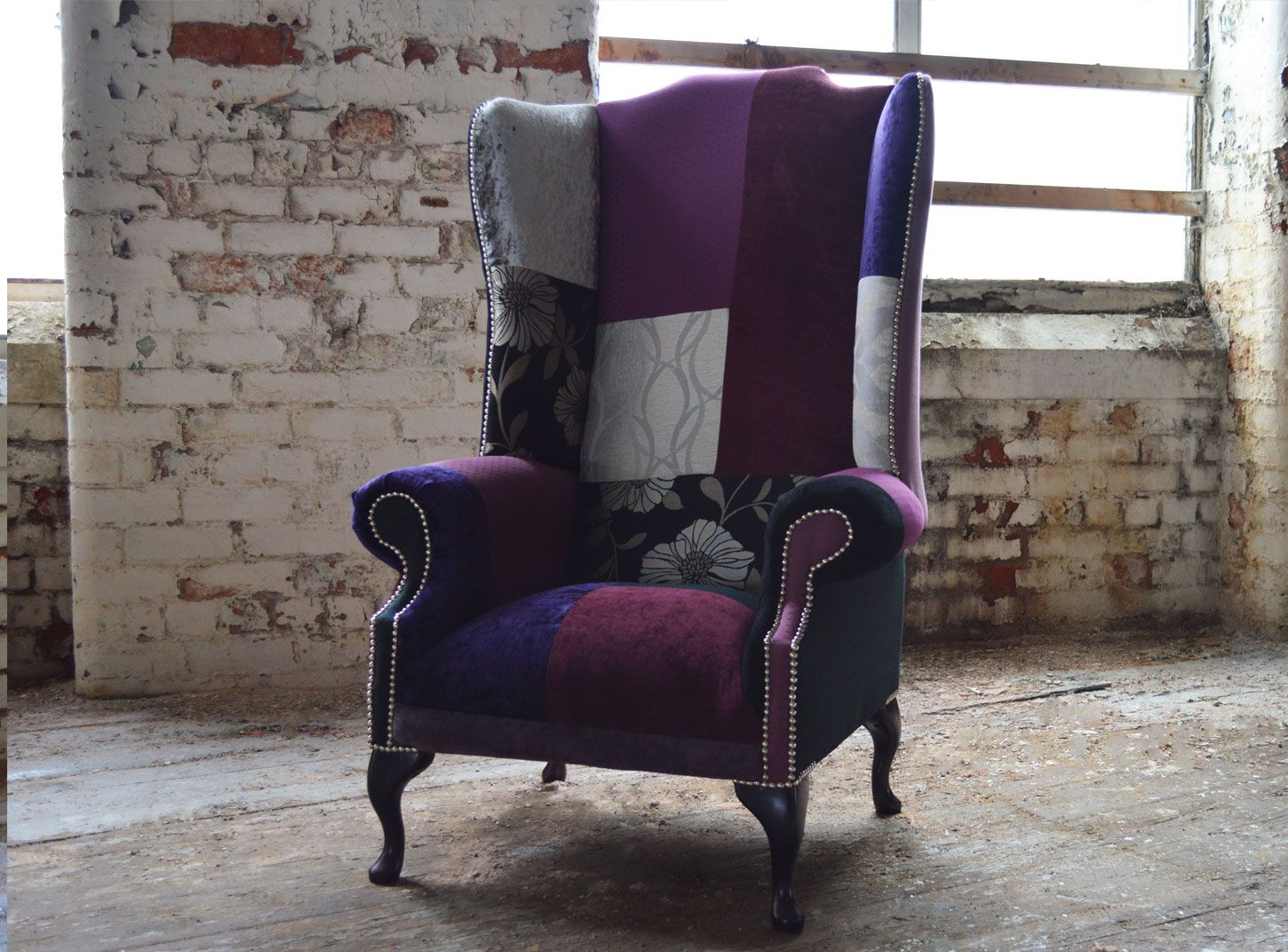 Image Result For Chesterfield Patchwork High Back Wing Chair