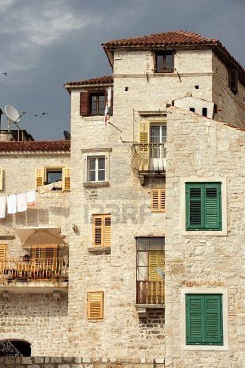Historic Tall Houses In Downtown Sibenik Croatia Sibenik Croatia Dalmatia Croatia