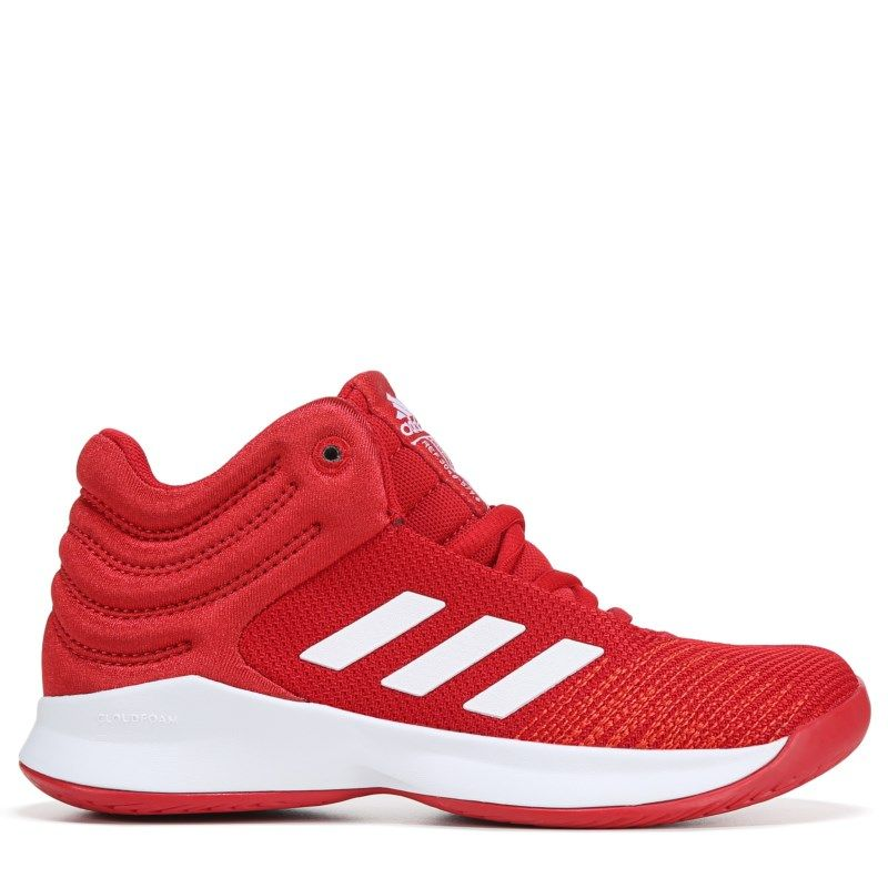 2329094985972 Adidas Kids' Pro Spark Wide Basketball Shoe Pre/Grade School Shoes (Red/ White)