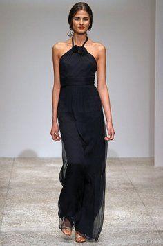 100e0cf4b1e Amsale Black Chiffon G587c Formal Bridesmaid Mob Dress Size 4 (S) 14 ...