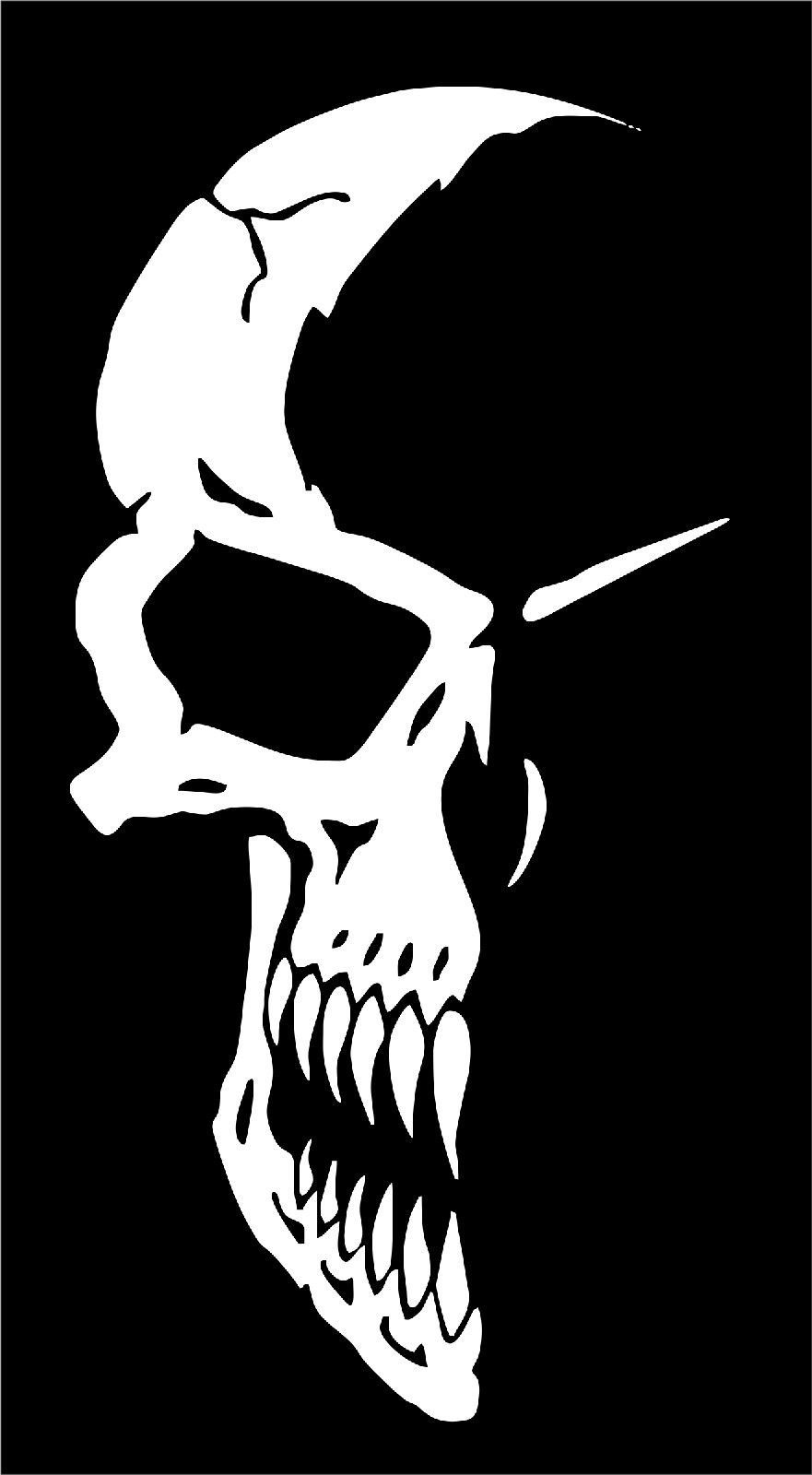 Half skull face mask car truck window laptop vinyl tattoo decal sticker