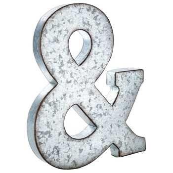 Galvanized Monogram Letters & Large Galvanized Metal Letter  Home  Pinterest  Wedding