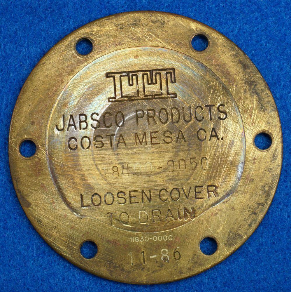 Sponsored Ebay Brass 3 Itt Jabsco 18400 0050 Pump End Cover Plate Vintage Tools Retro Gadgets Vintage Coffee Pot