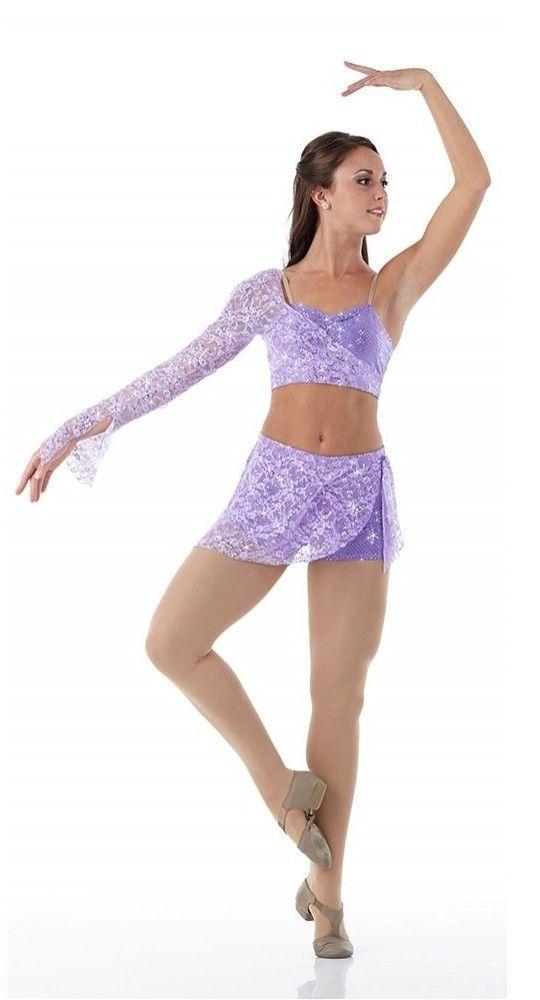 e07452d1a Promise Dance Costume Contemporary Lyrical Dress LILAC Ballet Tap ...