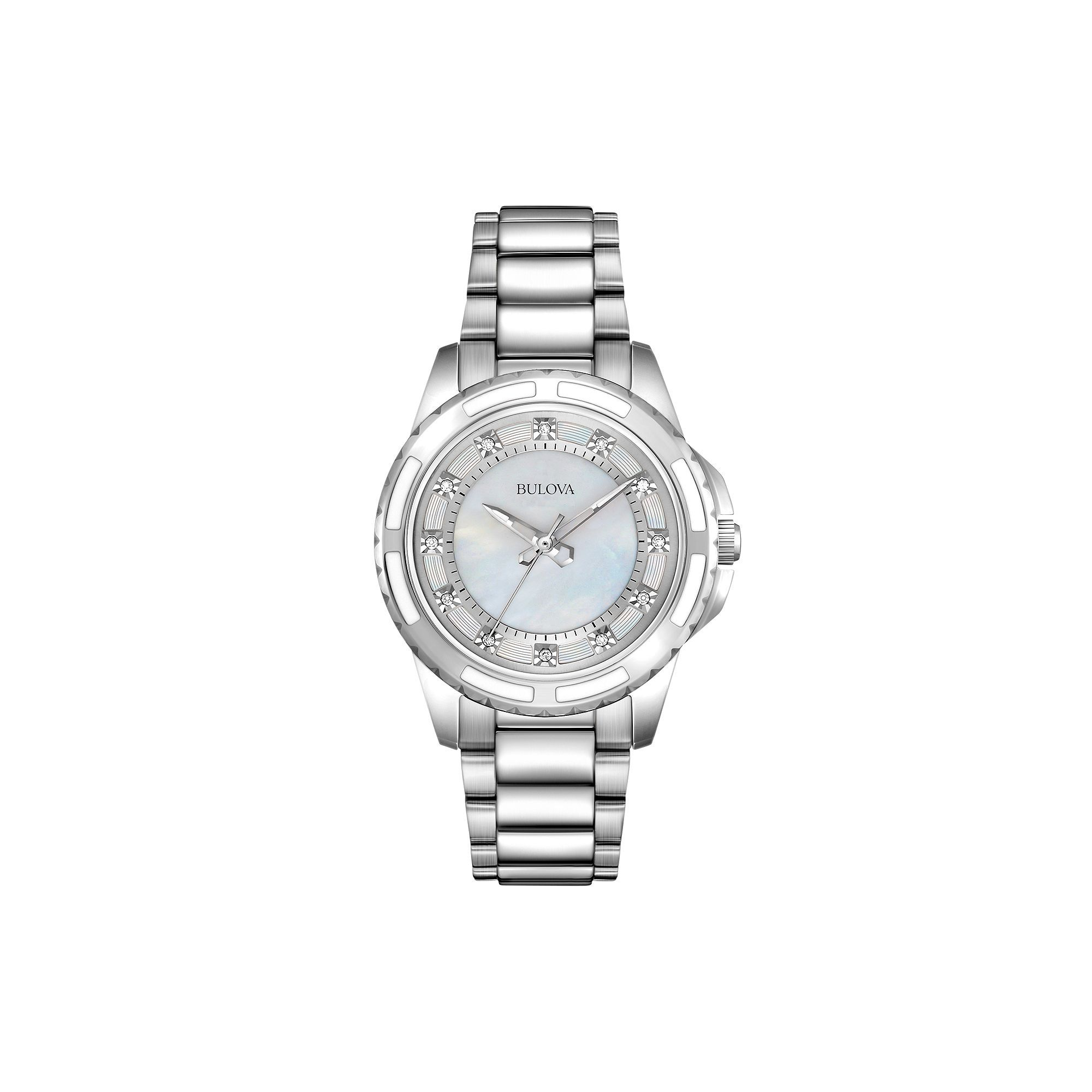 f1dbc64869c3 Bulova Women s Diamond Stainless Steel Watch - 96P144