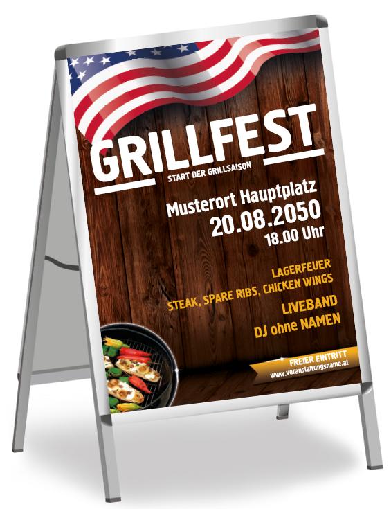 Persönliches Plakat für dein Festival online erstellen #plakatwerbung #onlineprintxxl #versandkostenfrei #partyplakat #festplakat #grillerei #gourmetessen