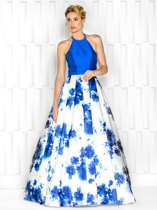 COLORS PROM DRESSES. Gorgeous dress with a full skirt. Floral, and ...
