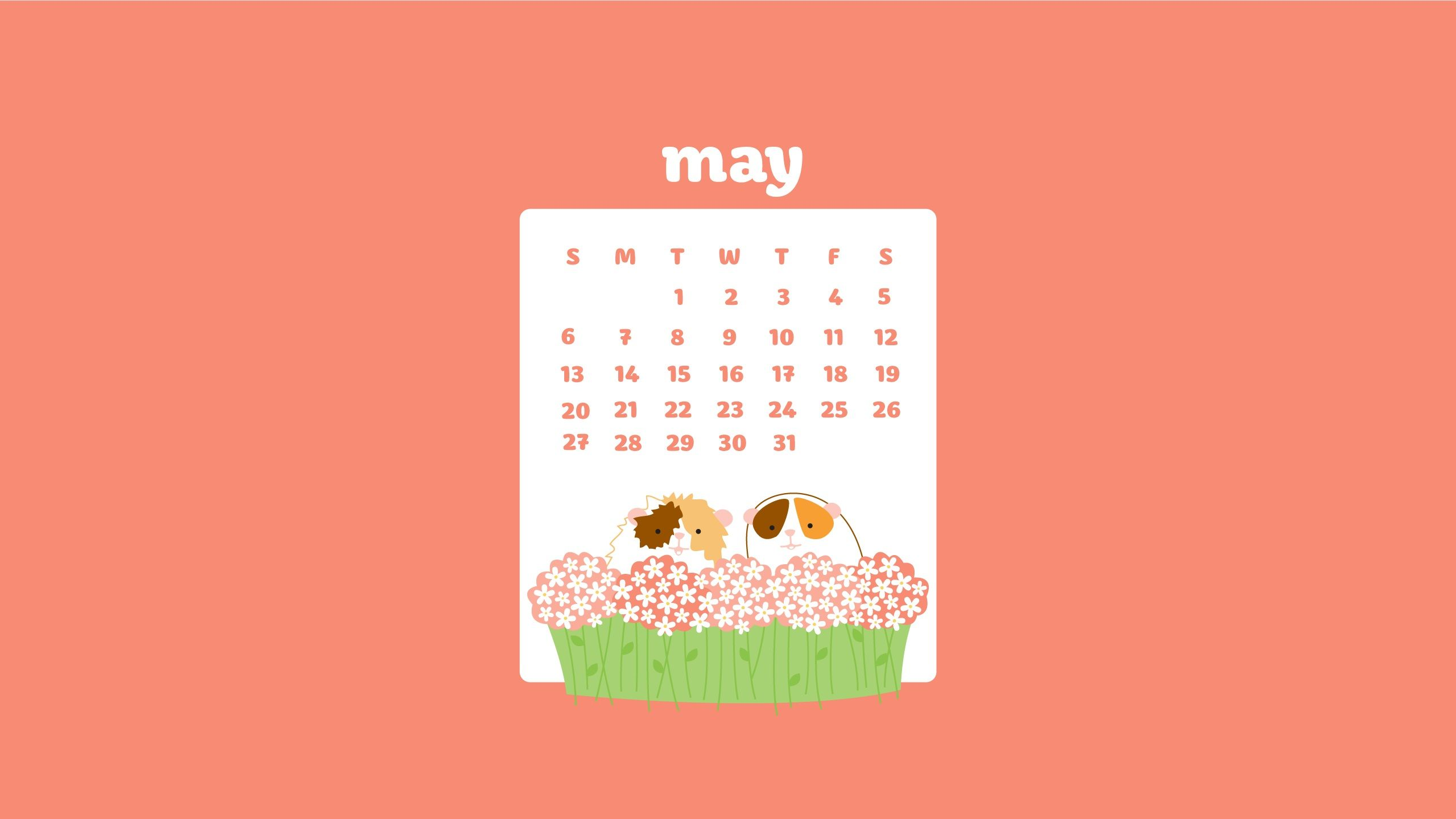 May Month 2018 Desktop Calendar