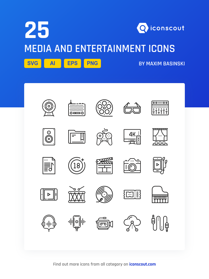 Download Media And Entertainment Icon Pack Available In Svg Png Eps Ai Icon Fonts Icon Money Icons Finance Icons