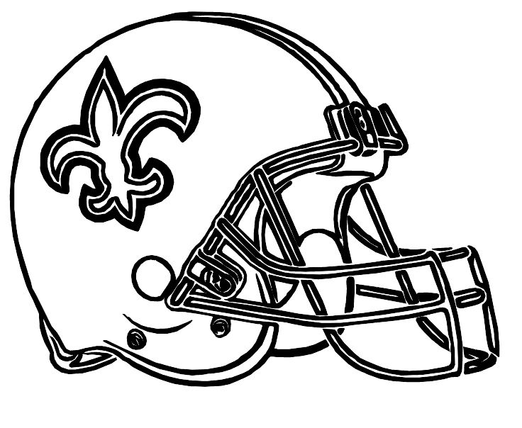 Helmet Football Saints New Orleans Coloring Pages Football