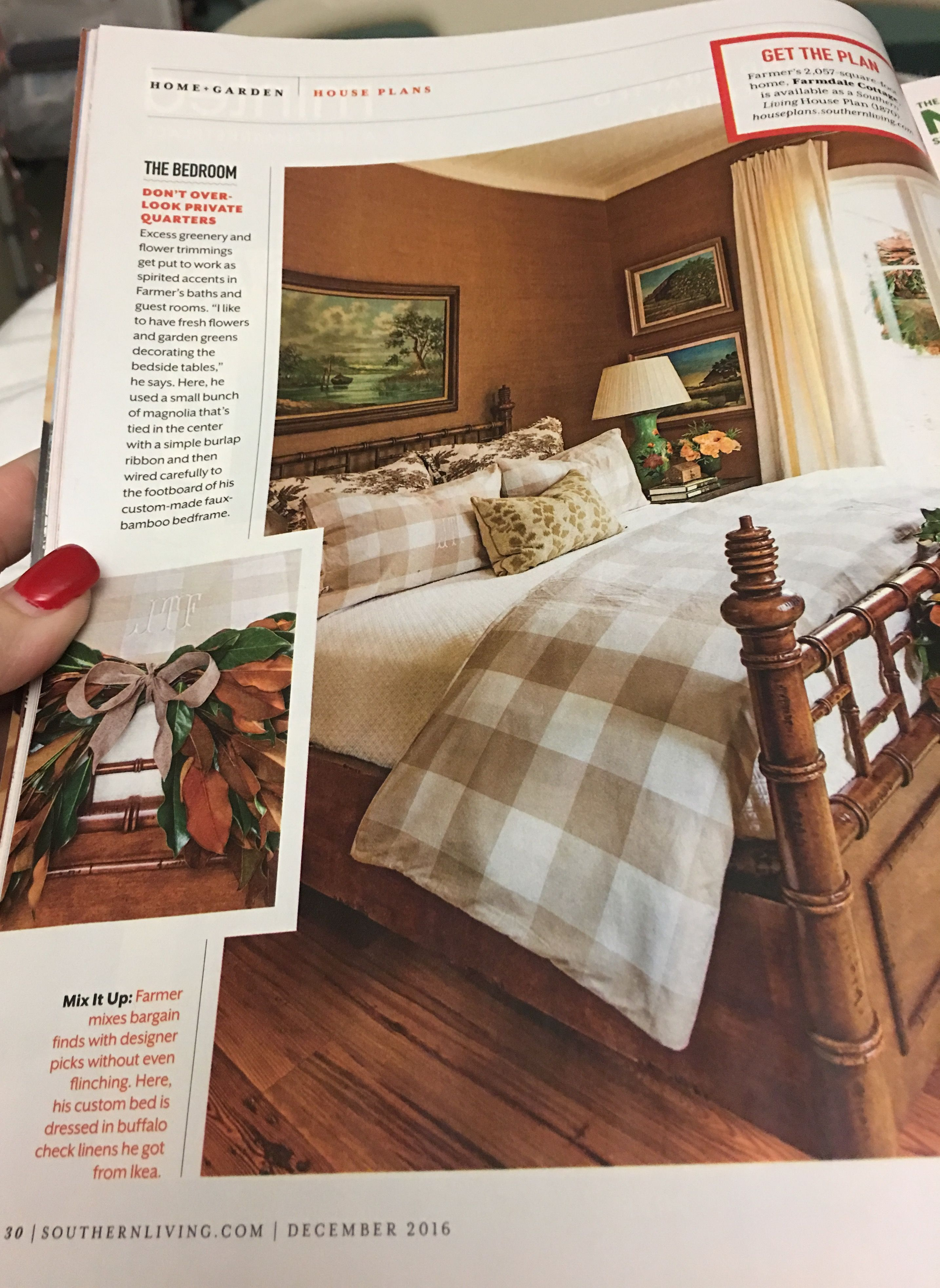 Southern Bedroom Farmdale Cottage Bedroom Buffalo Check Lines Ikea Love The