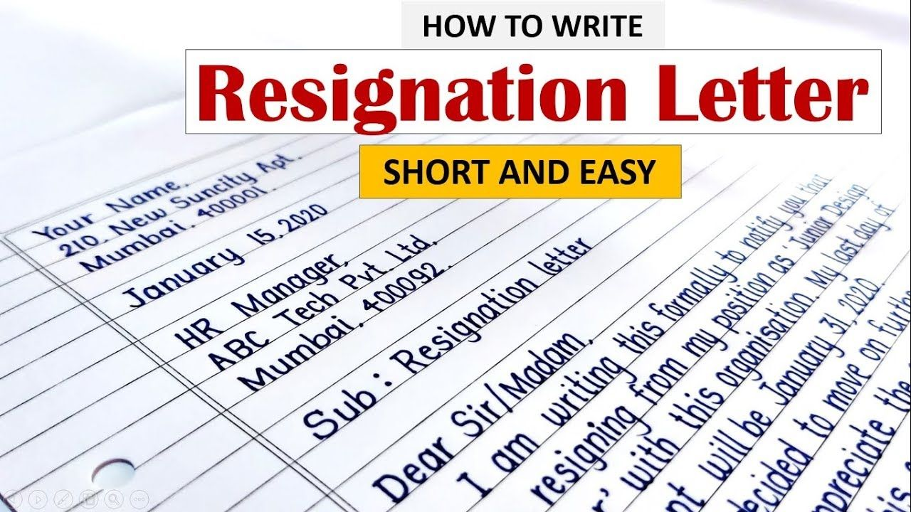 How to write resignation letter Learn to Write