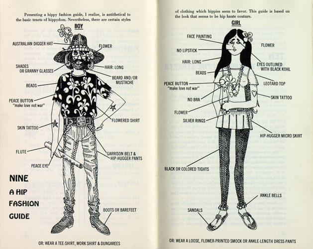 Strange How To Dress Like A Hippie From The Hippys Handbook 1967 Hairstyles For Women Draintrainus