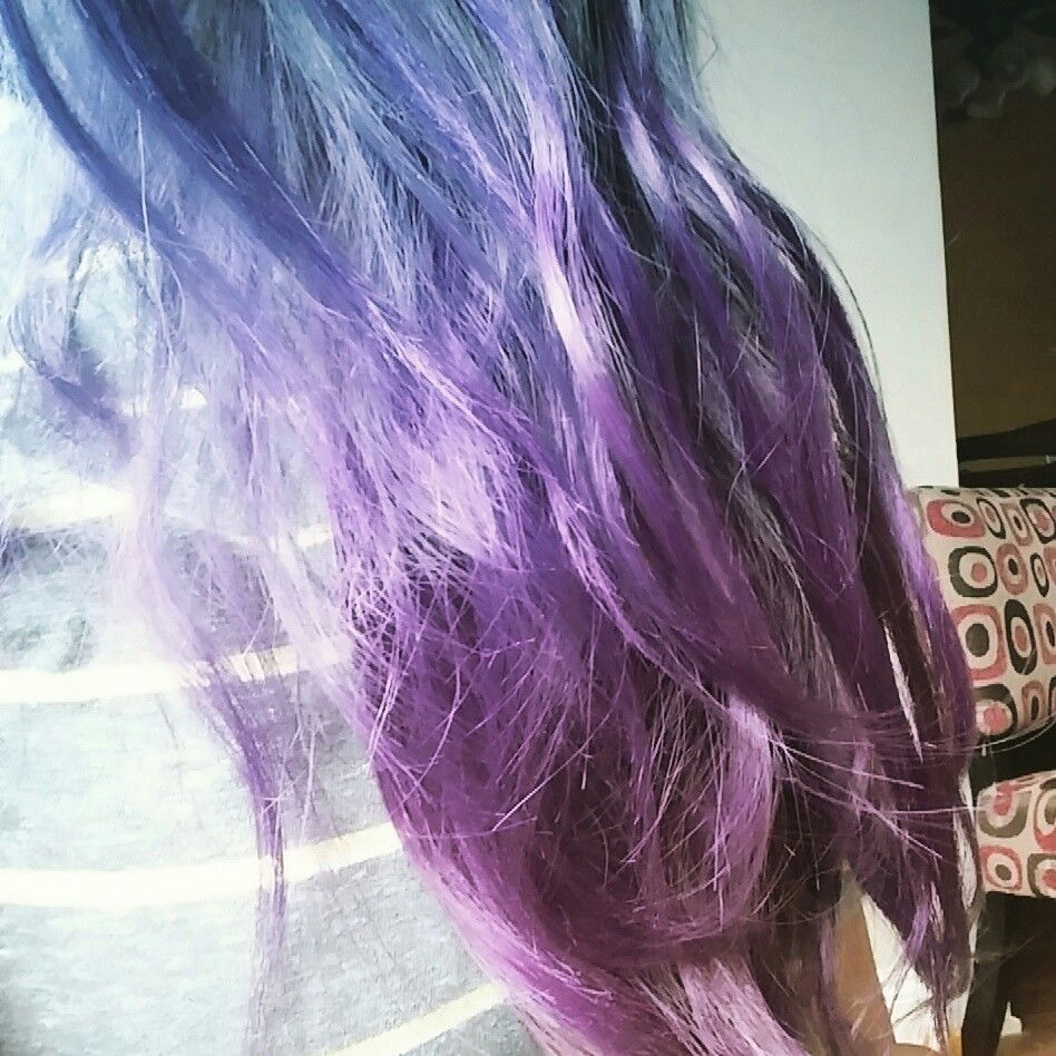 Do it yourself start off with a dramatic bleached ombre purchase do it yourself start off with a dramatic bleached ombre purchase jerome russel violent and purple hair dye section off hair starting about 1 inch above solutioingenieria Gallery