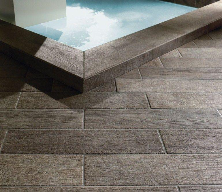 Revestimiento de pared suelo de gres porcel nico imitaci n - Como impermeabilizar madera ...