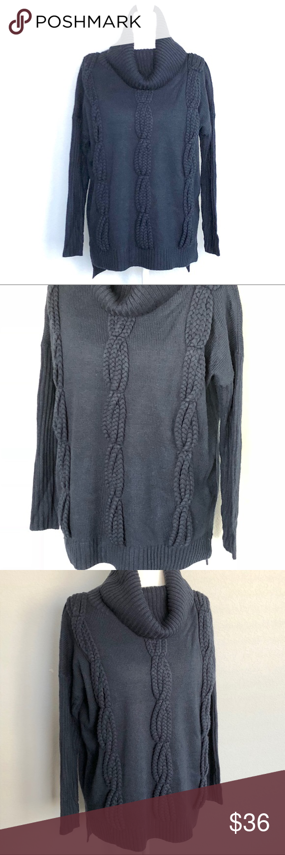 Romeo & Juliet Couture Navy Sweater Amazing knit detailed front ...
