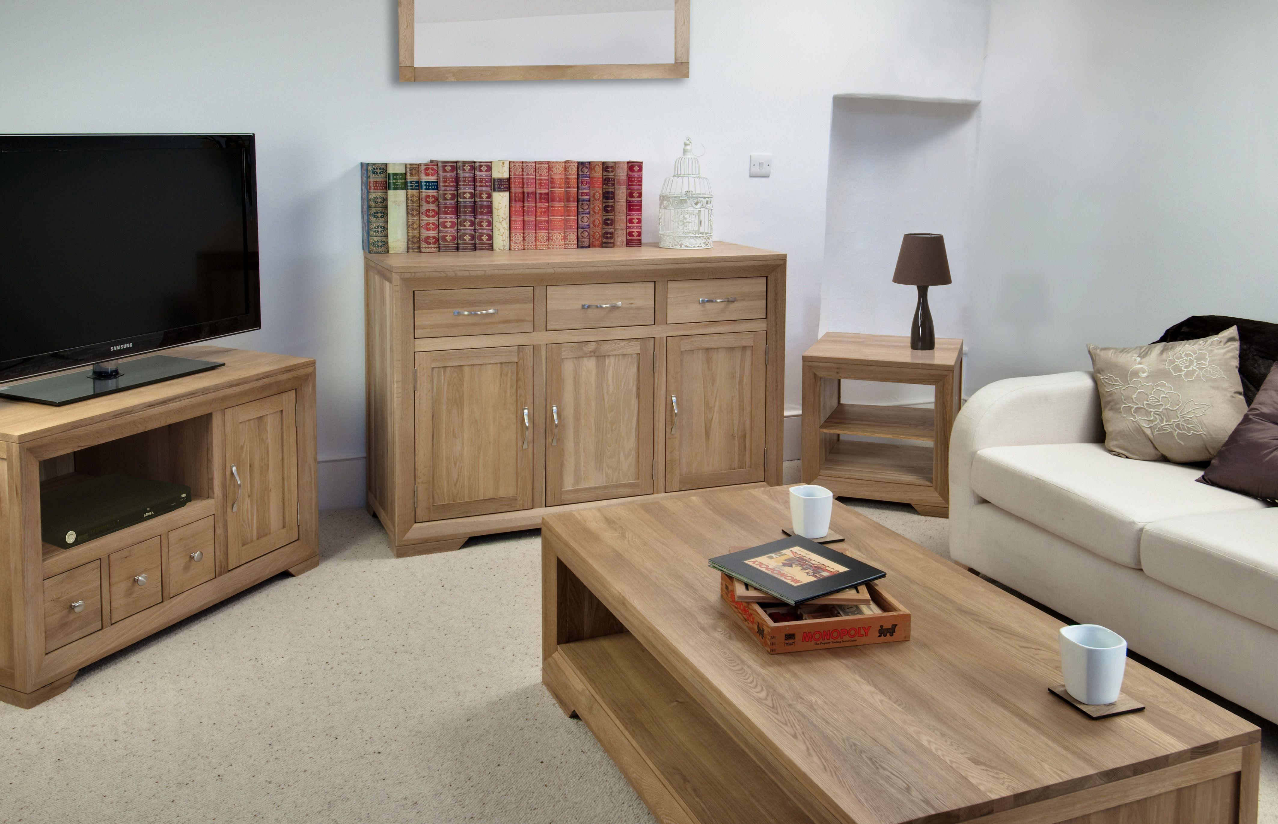 The Bevel Range Natural Solid Oak Furniture Decoracao