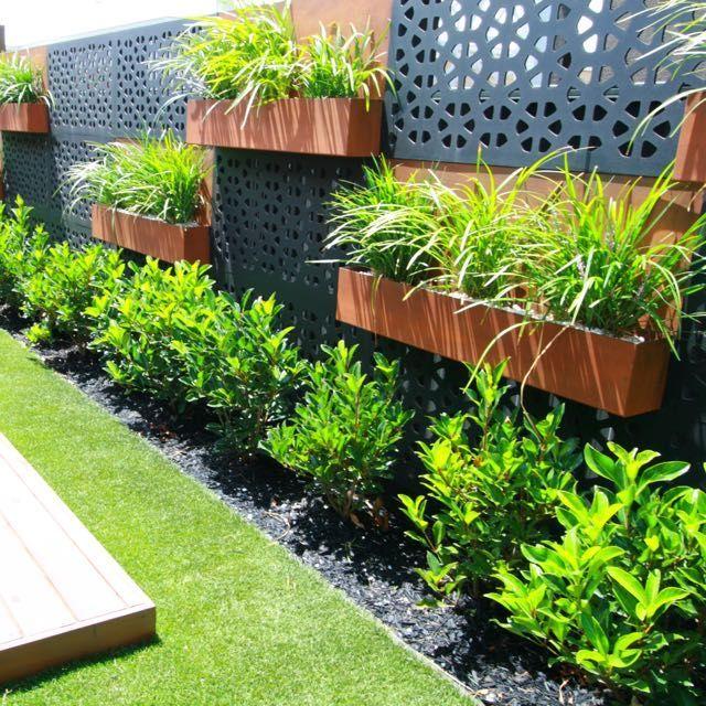 Vertical Garden Screen Outdeco Gardenscreen Marakesh Black