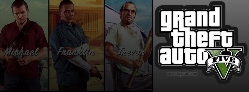 Gta 5 Michael Franklin Trevor Facebook Cover Coverlayout Com