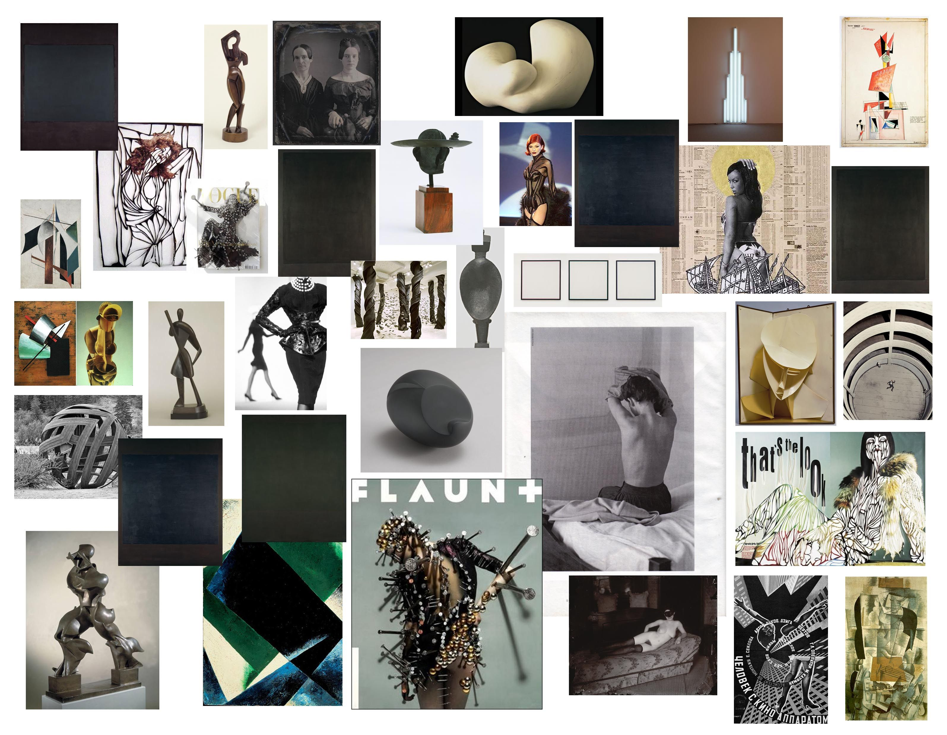 "The ""Sculpture"" collection - mood board"