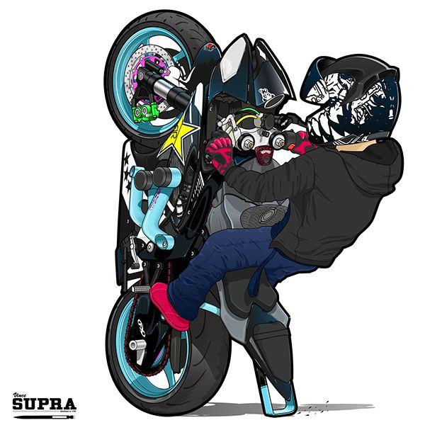 Sinister Stunts Doing 12 O Clock Wheelie On His Yamaha R6