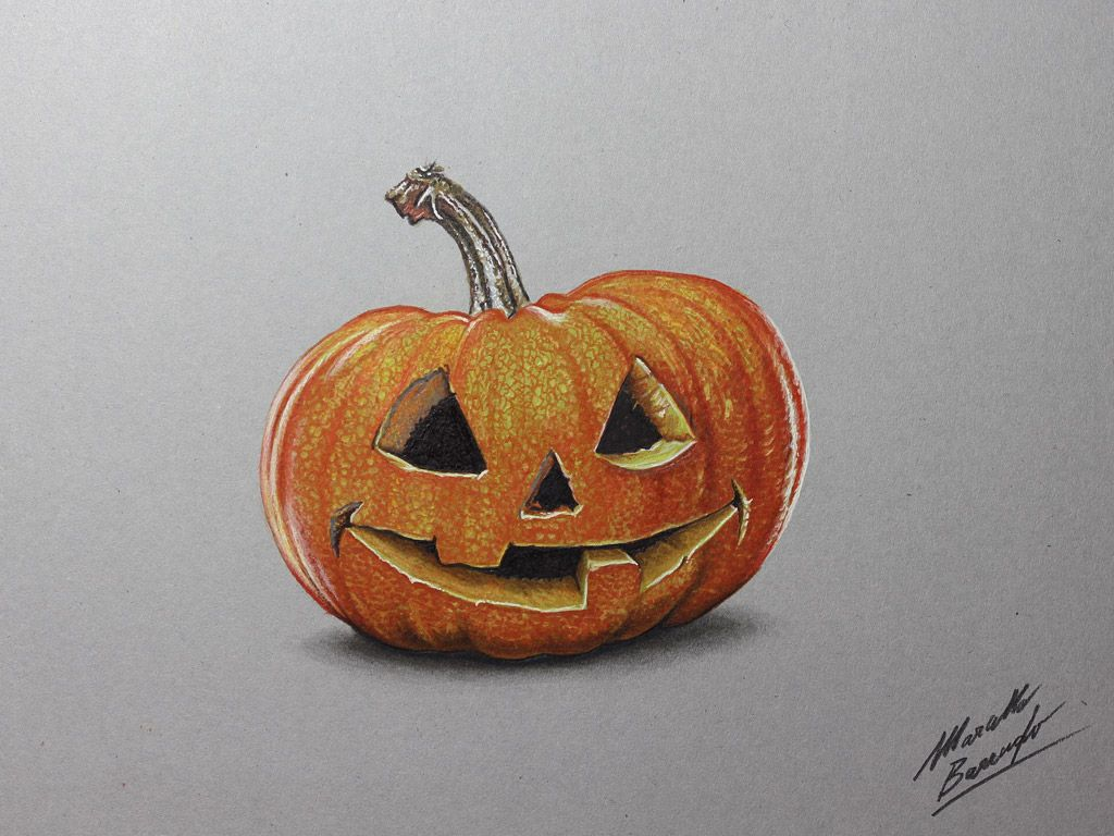 What would Halloween be without a carved pumpkin? Watch on YouTube the drawing video http://youtu.be/TG56vj_FIXM (HD video)