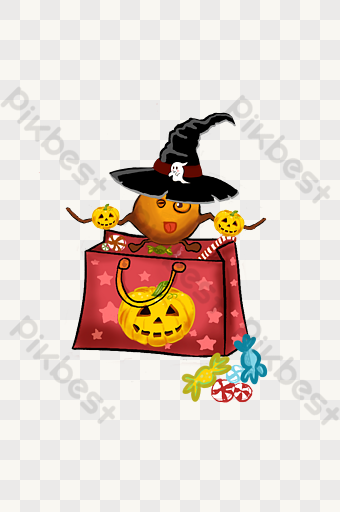 Halloween Candy Bag Png Cartoon Hand Drawn Png Images Psd Free Download Pikbest Halloween Candy Bags Halloween Candy How To Draw Hands