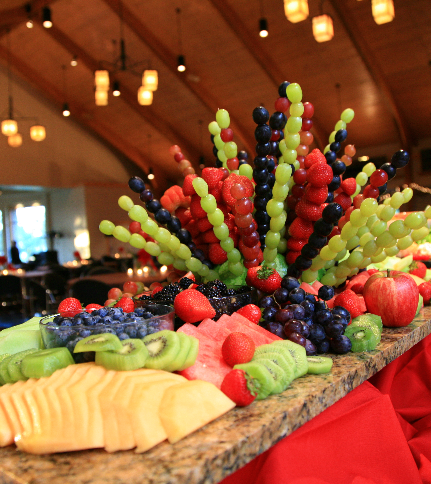 Catering Kitchen Fruit Amp Cheese Presentation In The