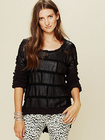 love!!!   Leather Patched Tunic