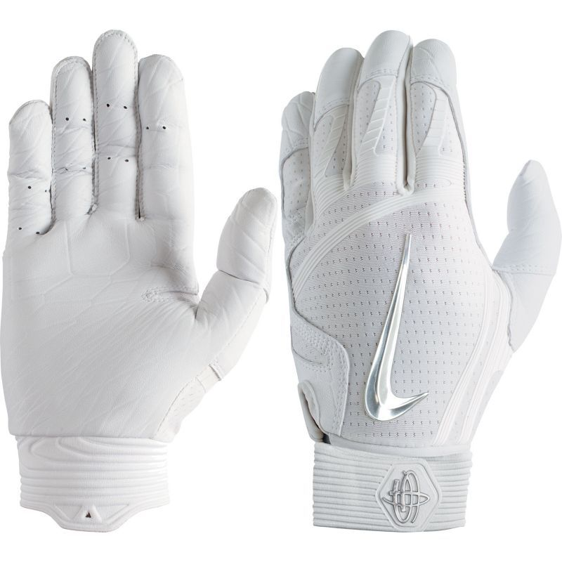Nike Adult Huarache Elite Batting Gloves 2018, White