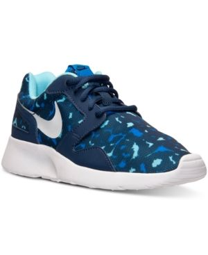 Nike Women's Kaishi Print Casual Sneakers from Finish Line - Blue 6