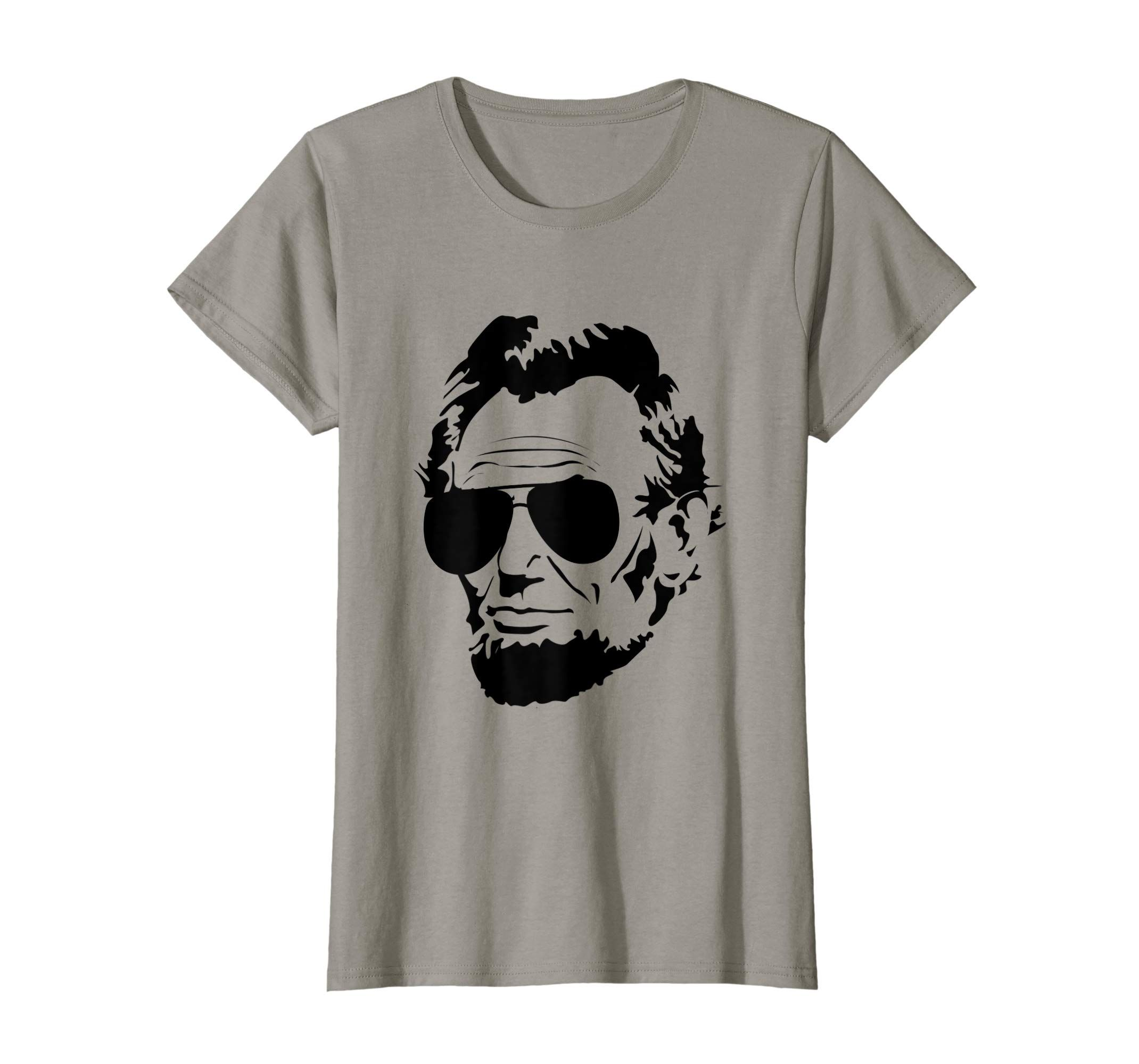 Abe Lincoln T Shirt Abraham Lincoln Portrait With Sunglasses Yolotee In 2021 Yolotee T Shirt Shirts [ 2000 x 2140 Pixel ]