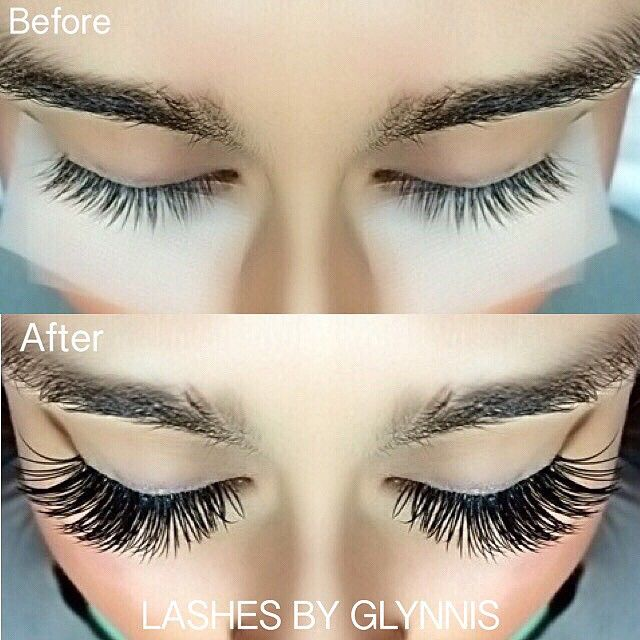 e555ca23b8f Before and After Lash Extensions | Lashes in 2019 | Lashes, Eyelash ...