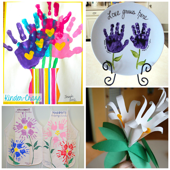 Handprint Flower Craft Ideas For Kids Crafty Morning Craft