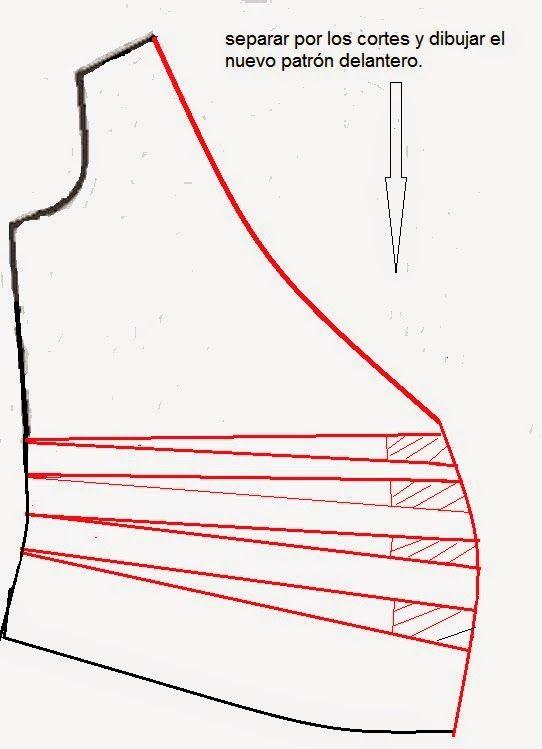 Patrón gratis: blusa cruzada con drapeado   Blusas, camisetas ...