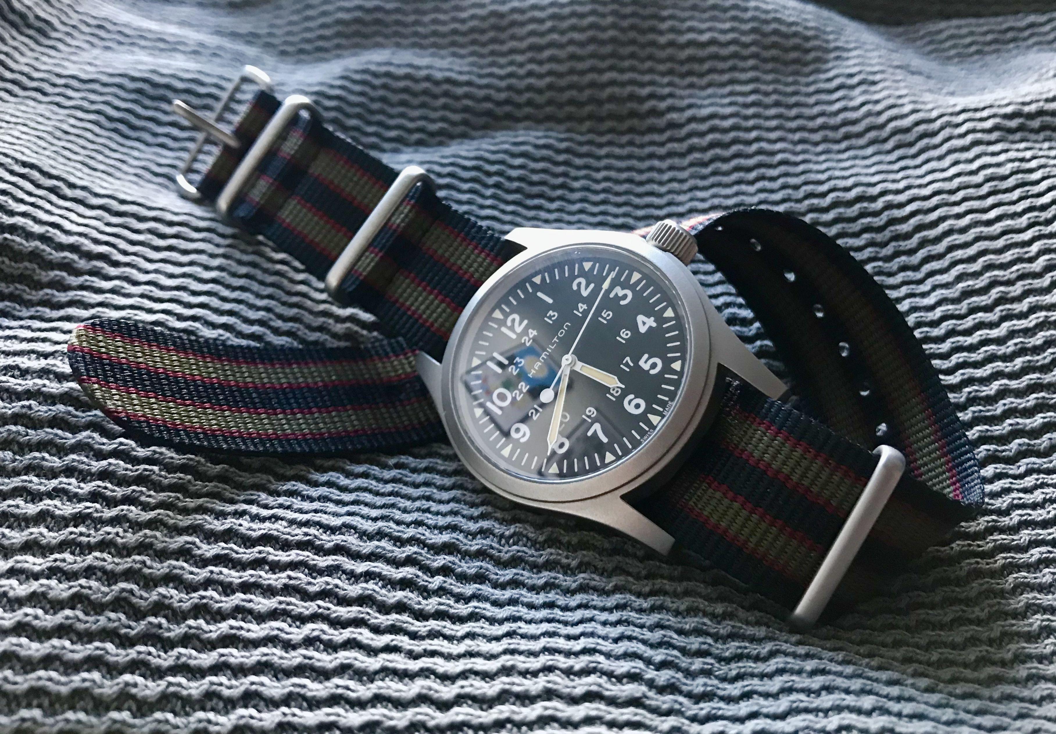 Hamilton Khaki Field Mechanical 2018 New Vintage Bond Nato Strap Bulova 90271 Jam Tangan Pria Silver