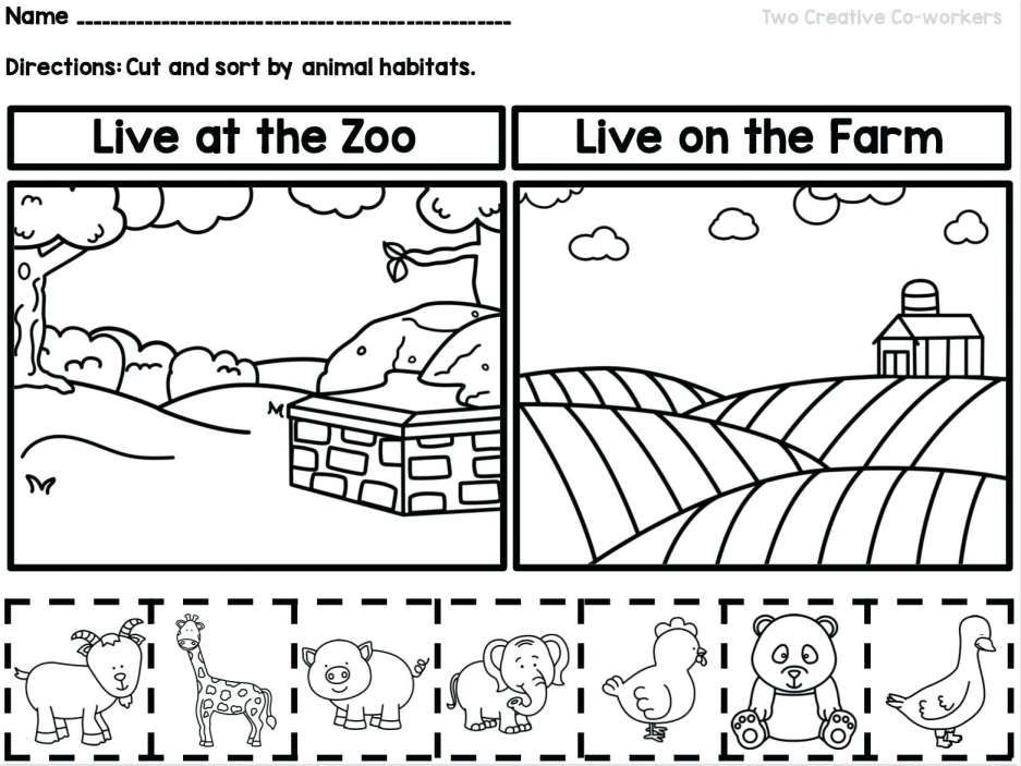Preschool Animal Habitats Worksheet And Habitats Coloring Pages Keynotesheet Co 9 Preschool Anim Animal Worksheets Animal Habitats Kindergarten Worksheets