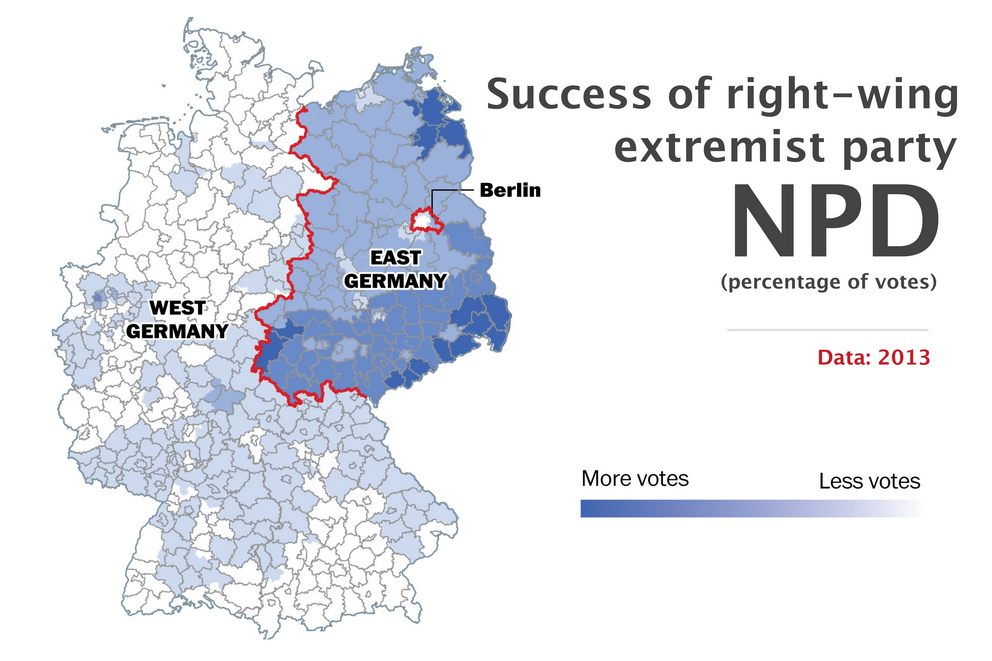 the berlin wall fell 25 years ago but germany is still divided geography
