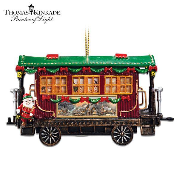 Thomas Kinkade To The North Pole We Go Ornament | Thomas ...