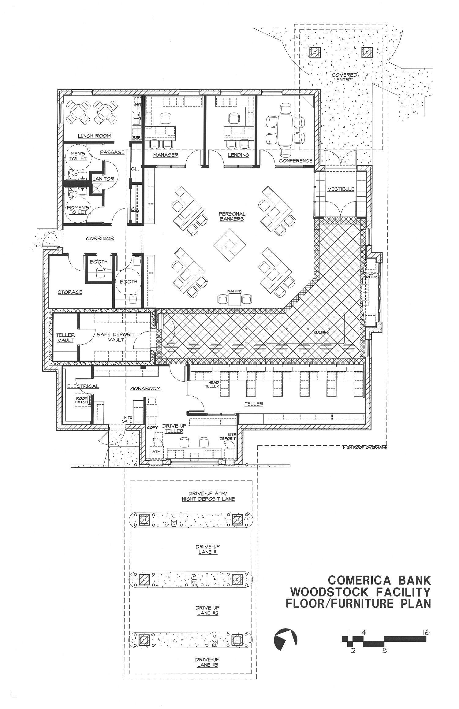 Branch Banks Woodstock Floor Plan Building Design Plan Floor Plans Floor Plan Design