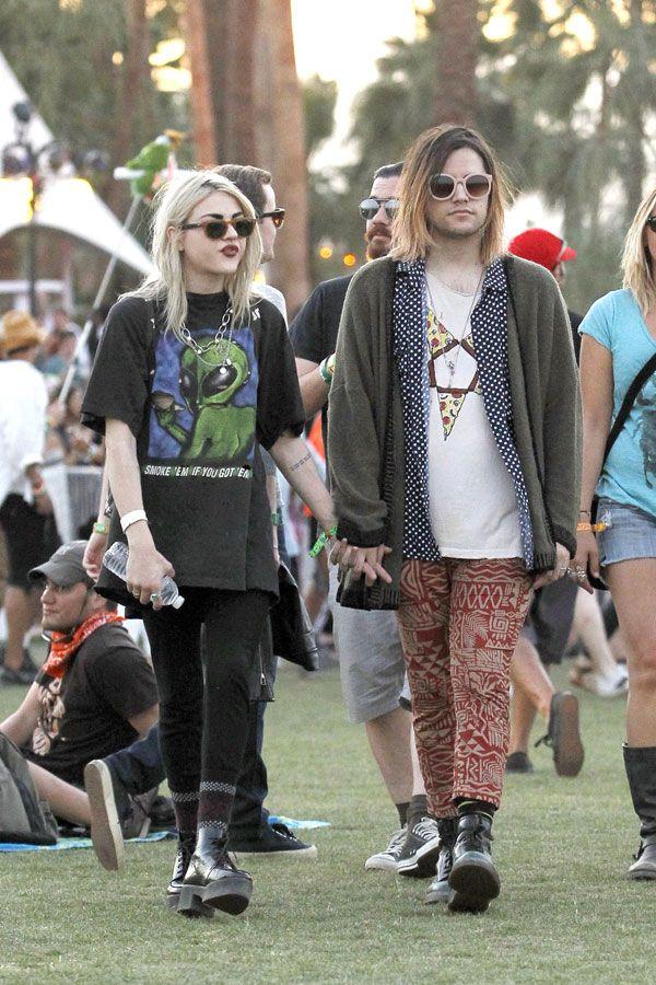 Celebrities At Coachella Frances Bean Cobain Coachella Celebrities Fashion
