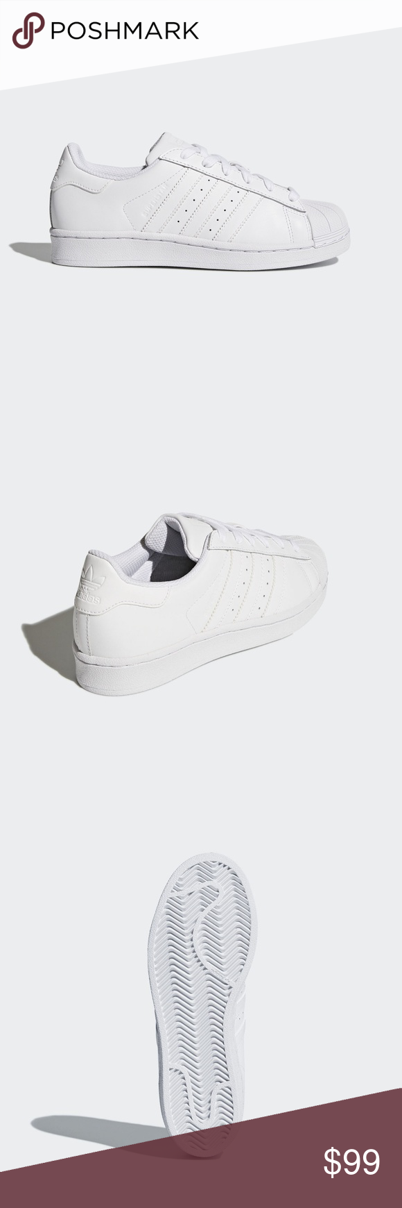 f79272563ee68d adidas Superstar Cloud White Shoes Kids  The adidas Originals Superstar  Foundation downsizes the classic for