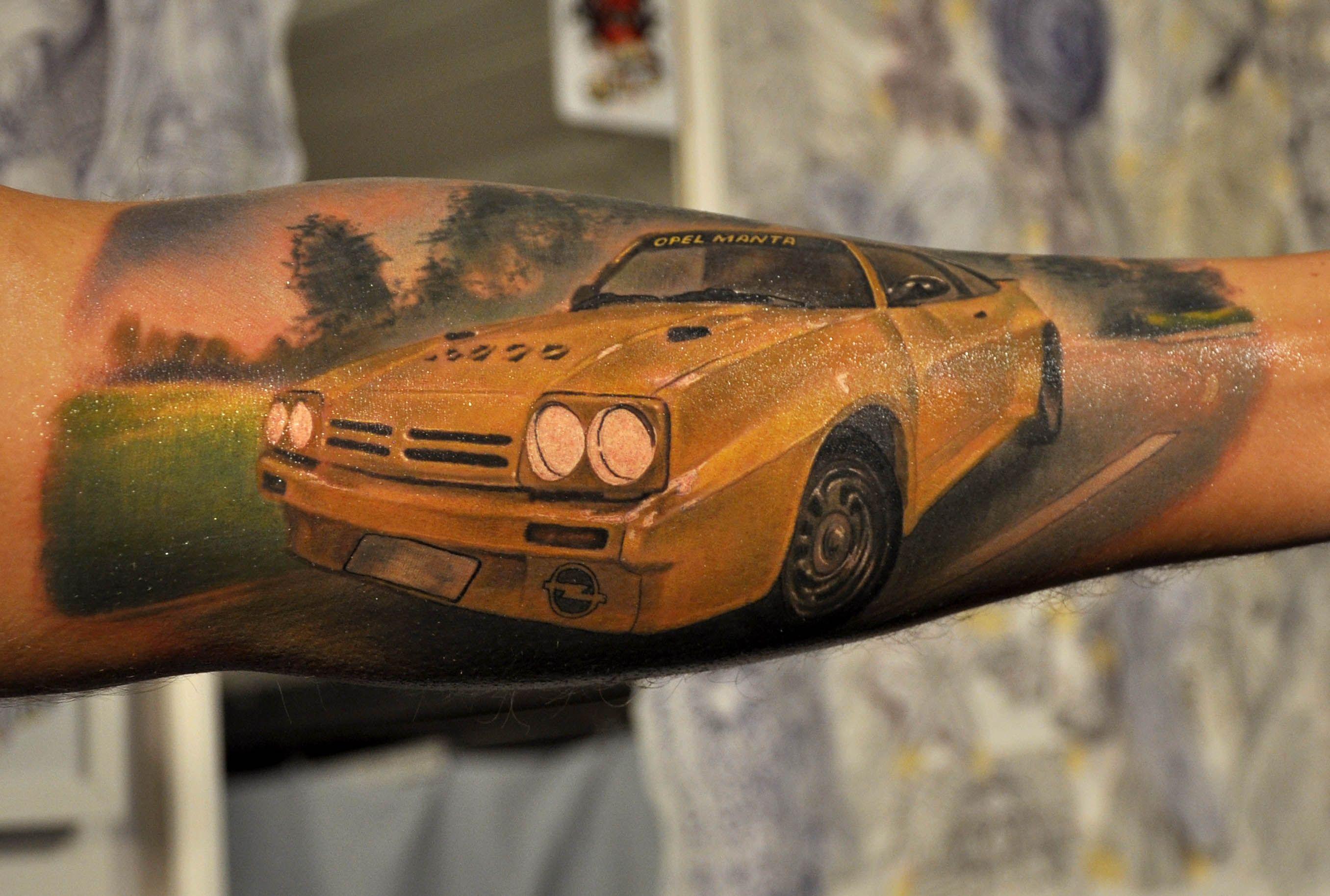 картинки татуировок с машинами весьма удачное