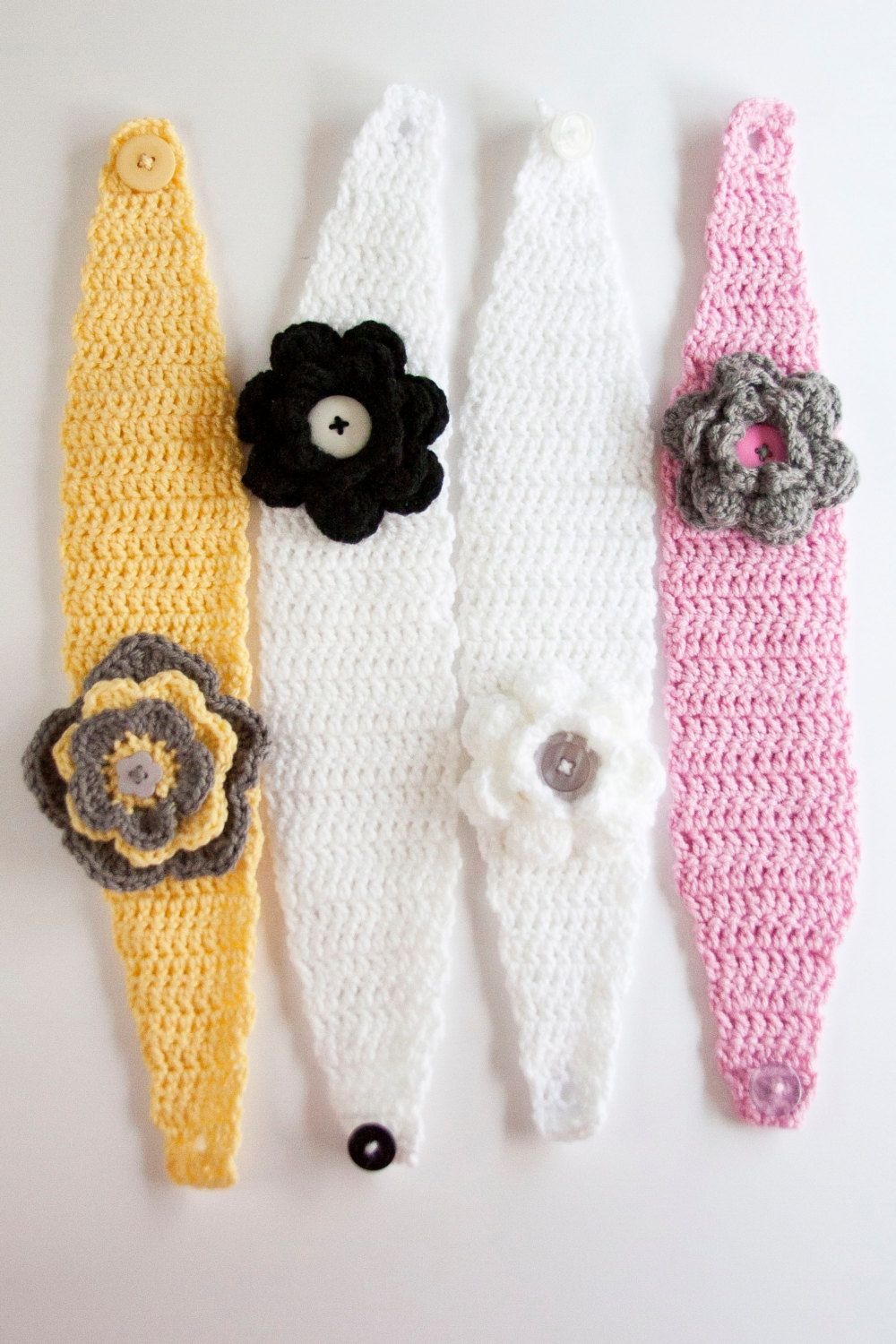 Handmade Crocheted Ear Warmers, made with 100% Acrylic Yarn (very ...