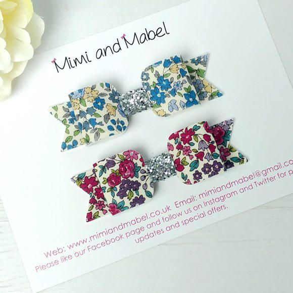 Floral hair bow set baby hair clips frou frou hair bow floral hair bow set baby hair clips frou frou hair bow fabric felt negle Image collections