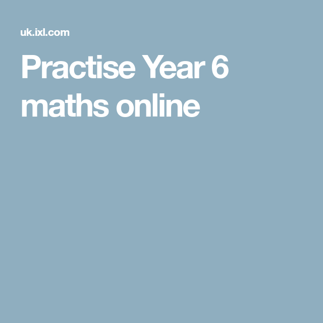 Practise Year 6 maths online | Work ideas | Pinterest | Math and ...